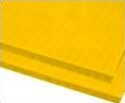 8mm Yellow 48 x 96 corrugated plastic sheets, 8 mm corrugated plastic sheeting pad